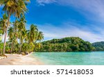 beautiful beach. view of nice... | Shutterstock . vector #571418053