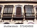 sevilla  spain   light yellow... | Shutterstock . vector #571424503