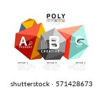abstract triangle low poly...