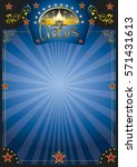 circus blue night poster. a new ... | Shutterstock .eps vector #571431613