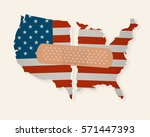 american flag map torn apart  ... | Shutterstock .eps vector #571447393