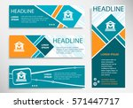 museum icon icon on horizontal... | Shutterstock .eps vector #571447717