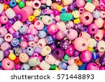 beads background. retro top... | Shutterstock . vector #571448893