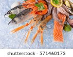 Fresh Seafood On Crushed Ice ...