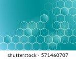 chemistry 3d model  the... | Shutterstock .eps vector #571460707