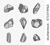 rock stone age crystal mineral... | Shutterstock .eps vector #571474963