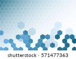 vector abstract 3d hexagon.... | Shutterstock .eps vector #571477363