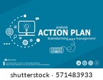 action plan and marketing... | Shutterstock .eps vector #571483933
