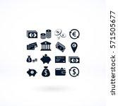 finance icons vector  flat... | Shutterstock .eps vector #571505677
