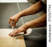 man hands working in furniture...   Shutterstock . vector #571517743