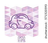 car web icon. flat style for...