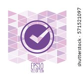tick icon. flat style for... | Shutterstock .eps vector #571521097
