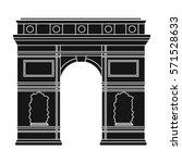 triumphal arch icon in black... | Shutterstock . vector #571528633