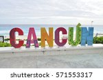 cancun  mexico   4 january 2017 ...   Shutterstock . vector #571553317