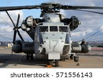 Small photo of MIRAMAR, CALIFORNIA, USA - OCT 15, 2016: US Marines Sikorsky CH-53E Super Stallion military helicopter at Miramar Air Station.