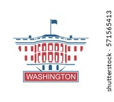 united states capitol building... | Shutterstock .eps vector #571565413