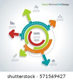 business pie chart for... | Shutterstock .eps vector #571569427