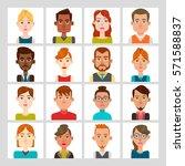 male and female avatar set.... | Shutterstock .eps vector #571588837