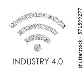 industry 4.0 concept business... | Shutterstock .eps vector #571599277