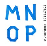 set of m  n  o  p letter... | Shutterstock . vector #571617823