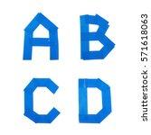 set of a b c d letter symbols...   Shutterstock . vector #571618063