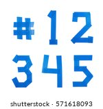 set of five numbers made of... | Shutterstock . vector #571618093