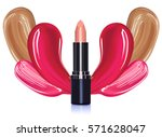 3d lipstick realistic make up... | Shutterstock .eps vector #571628047
