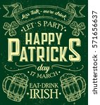 happy st. patrick day poster of ... | Shutterstock .eps vector #571656637