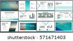 original blue presentation... | Shutterstock .eps vector #571671403