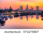 city of london skyline at... | Shutterstock . vector #571675807