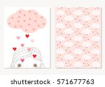 cute greeting cards or posters... | Shutterstock .eps vector #571677763