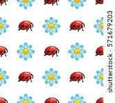 vector seamless pattern on a... | Shutterstock .eps vector #571679203