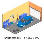 isometric flat 3d isolated... | Shutterstock .eps vector #571679497
