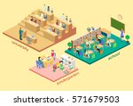 isometric flat 3d isolated... | Shutterstock .eps vector #571679503