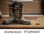 work boots  muddy work boots...