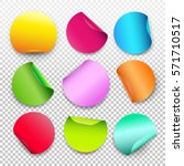 colorful set of round paper... | Shutterstock .eps vector #571710517