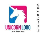 unicorn head logo icon symbol | Shutterstock .eps vector #571719013