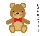 cute teddy bear icon vector... | Shutterstock .eps vector #571721473