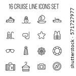 set of cruise icons in modern... | Shutterstock .eps vector #571727977