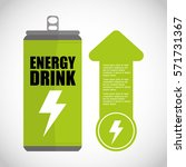 ecology and energy drink saving ... | Shutterstock .eps vector #571731367