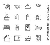 set of hotel icons in modern... | Shutterstock .eps vector #571746217
