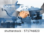 global logistics network ... | Shutterstock . vector #571746823