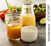 variety of homemade sauces and... | Shutterstock . vector #571747297