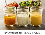 variety of homemade sauces and... | Shutterstock . vector #571747333