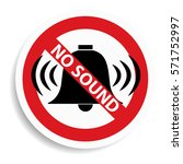 no sound sign on white...   Shutterstock . vector #571752997