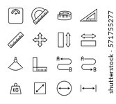 set of measuring icons in... | Shutterstock .eps vector #571755277