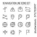 set of navigation icons in... | Shutterstock .eps vector #571755997