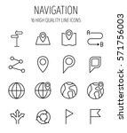 set of navigation icons in... | Shutterstock .eps vector #571756003