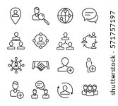set of social network icons in... | Shutterstock .eps vector #571757197