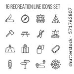 set of recreation icons in... | Shutterstock .eps vector #571762807